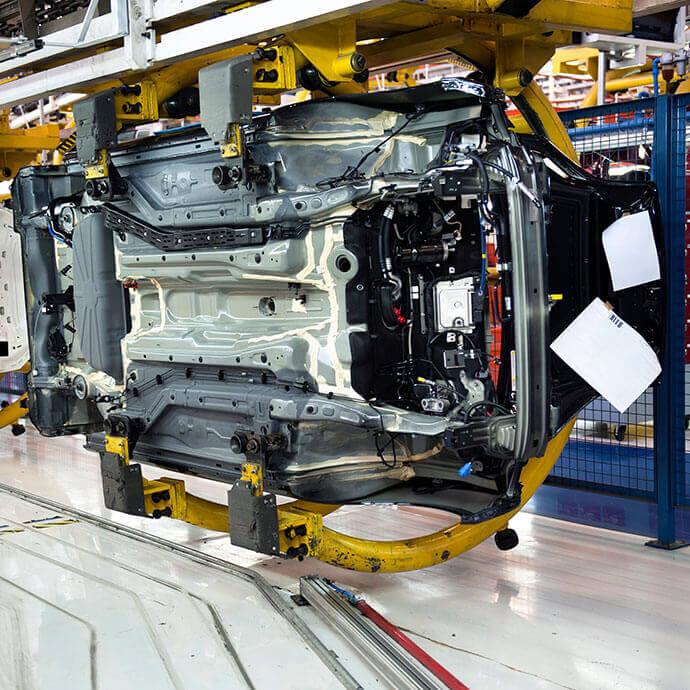 Fördertechnik und Automatisierungstechnik in der Automobilindustrie