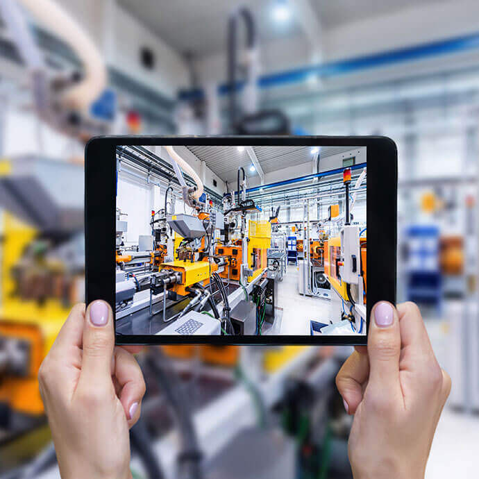 Industrie 4.0 Automationsanlage in der Zukunft